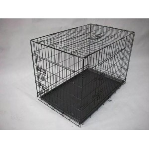 36 42 48 Metal Pet Dog Cat Puppy Collapsible Train Cage Crate Pen