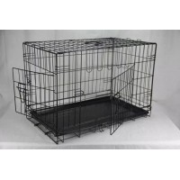 36 42 48 Inch Metal Pet Dog Cat Puppy Collapsible Train Cage Crate Pen (WPD105-3,4,5)