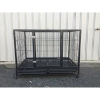 XXL Heavy Duty Collapsible Metal Pet Crate Dog Cat Rabbit Cage Kennel ( WPD057B3 )