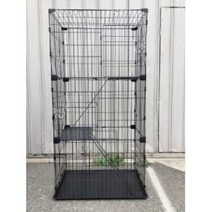 3 levels 3 access door 169 cm High Cat Budgie Hamster House Enclosure ( WPD1993 )