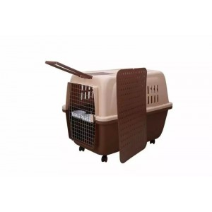 Portable Dog Cat Crate Pet Travel Carrier Cage With Tray