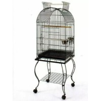 Large Arched Roof Metal Bird Cage with Stand WPA140-1
